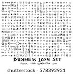 business doodles sketch vector... | Shutterstock .eps vector #578392921