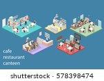 isometric flat 3d concept... | Shutterstock .eps vector #578398474