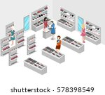 isometric flat 3d isolated... | Shutterstock .eps vector #578398549