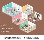 isometric flat 3d concept... | Shutterstock .eps vector #578398837
