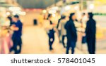 abstract blur image of shopping ... | Shutterstock . vector #578401045