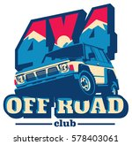 off road car logo  safari suv ... | Shutterstock .eps vector #578403061