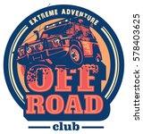 off road car logo  safari suv ... | Shutterstock .eps vector #578403625