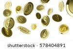 falling golden coins 3d...   Shutterstock . vector #578404891