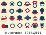vector badge  labels and ribbons | Shutterstock .eps vector #578413591