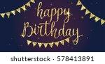 modern hand drawn lettering... | Shutterstock .eps vector #578413891