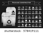 packaging symbols. icon set... | Shutterstock . vector #578419111