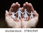 Cutout Paper Chain Family With...