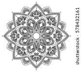 mandala. coloring book pages.... | Shutterstock .eps vector #578432161