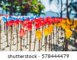 recycled colorful plastic...   Shutterstock . vector #578444479