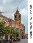 hooglandse kerk is a gothic... | Shutterstock . vector #578444485
