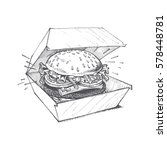 illustration of a burger  a... | Shutterstock .eps vector #578448781