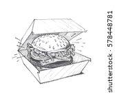 illustration of a burger  a... | Shutterstock .eps vector #578448781