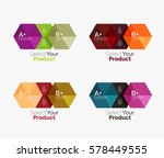 set of abstract geometric... | Shutterstock .eps vector #578449555