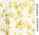 vector gold on white asian... | Shutterstock .eps vector #578454259
