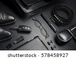 man accessories in business... | Shutterstock . vector #578458927
