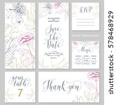 template rustic wedding... | Shutterstock .eps vector #578468929