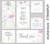 template rustic wedding... | Shutterstock .eps vector #578468929