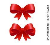 red ribbon bows illustration.... | Shutterstock . vector #578476285