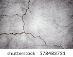 cracked concrete wall covered... | Shutterstock . vector #578483731
