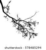 realistic tree silhouette ... | Shutterstock .eps vector #578485294