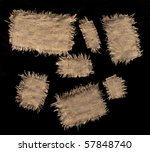 coarse texture of the canvas - stock photo