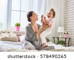 happy loving family. young... | Shutterstock . vector #578490265
