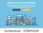 application development concept ... | Shutterstock .eps vector #578494234
