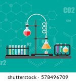 laboratory equipment  jars ... | Shutterstock .eps vector #578496709