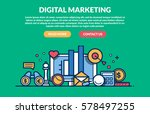 digital marketing concept for... | Shutterstock .eps vector #578497255