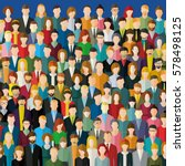 the crowd of abstract people.... | Shutterstock .eps vector #578498125