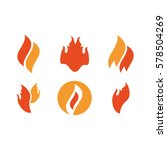 fire tattoo vector. fire flames ... | Shutterstock .eps vector #578504269