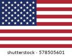 american flag  vector... | Shutterstock .eps vector #578505601