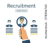 recruitment concept. human... | Shutterstock .eps vector #578506765