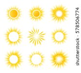yellow and white vector... | Shutterstock .eps vector #578506774