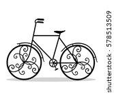bicycle. wedding bicycle.... | Shutterstock .eps vector #578513509