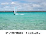 windsurfer enjoying his sport... | Shutterstock . vector #57851362