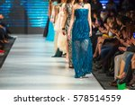defile on fashion show  | Shutterstock . vector #578514559