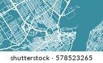 detailed vector map of quebec ... | Shutterstock .eps vector #578523265