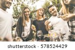 happy friends having fun... | Shutterstock . vector #578524429
