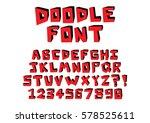 vector hand drawn doodle font... | Shutterstock .eps vector #578525611