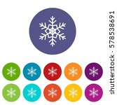 snowflake set icons in... | Shutterstock . vector #578538691