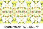 rectangle abstract mosaic... | Shutterstock . vector #578539879