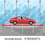 exhibition pavilion  showroom...   Shutterstock . vector #578540371
