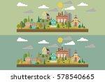 set of two illustration. eco...   Shutterstock .eps vector #578540665