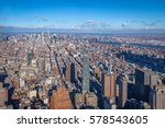 skyline aerial view of... | Shutterstock . vector #578543605