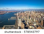 skyline aerial view of...   Shutterstock . vector #578543797