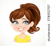 beautiful brunette girl with... | Shutterstock .eps vector #578552707