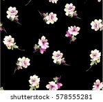 pattern with small spring... | Shutterstock .eps vector #578555281
