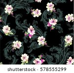 pattern with small spring... | Shutterstock .eps vector #578555299